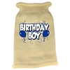 Mirage Pet Products Birthday Boy Screen Print Knit Pet Sweater LG Cream