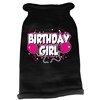 Mirage Pet Products Birthday Girl Screen Print Knit Pet Sweater MD Black