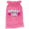 Mirage Pet Products Birthday Girl Screen Print Knit Pet Sweater SM Pink
