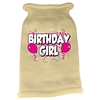 Mirage Pet Products Birthday Girl Screen Print Knit Pet Sweater LG Cream