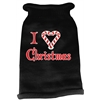Mirage Pet Products I Heart Christmas Screen Print Knit Pet Sweater LG Black
