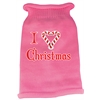 Mirage Pet Products I Heart Christmas Screen Print Knit Pet Sweater XS Pink