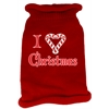 Mirage Pet Products I Heart Christmas Screen Print Knit Pet Sweater MD Red