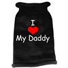 Mirage Pet Products I Heart Daddy Screen Print Knit Pet Sweater LG Black