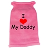 Mirage Pet Products I Heart Daddy Screen Print Knit Pet Sweater XS Pink