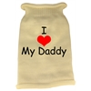 Mirage Pet Products I Heart Daddy Screen Print Knit Pet Sweater LG Cream