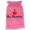 Mirage Pet Products I Heart Mommy Screen Print Knit Pet Sweater XS Pink