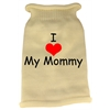 Mirage Pet Products I Heart Mommy Screen Print Knit Pet Sweater SM Cream