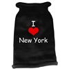 Mirage Pet Products I Love New York Screen Print Knit Pet Sweater XS Black