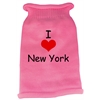 Mirage Pet Products I Love New York Screen Print Knit Pet Sweater MD Pink