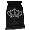 Mirage Pet Products Crown Rhinestone Knit Pet Sweater MD Black