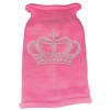Mirage Pet Products Crown Rhinestone Knit Pet Sweater LG Pink