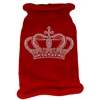 Mirage Pet Products Crown Rhinestone Knit Pet Sweater LG Red