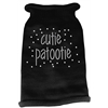 Mirage Pet Products Cutie Patootie Rhinestone Knit Pet Sweater LG Black