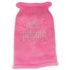 Mirage Pet Products Cutie Patootie Rhinestone Knit Pet Sweater SM Pink