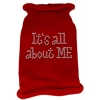 Mirage Pet Products It's All About Me Rhinestone Knit Pet Sweater MD Red