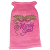 Mirage Pet Products Mardi Gras Rhinestud Knit Pet Sweater LG Pink