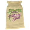 Mirage Pet Products Mardi Gras Rhinestud Knit Pet Sweater XS Cream