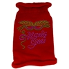 Mirage Pet Products Mardi Gras Rhinestud Knit Pet Sweater LG Red