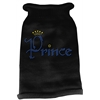 Mirage Pet Products Prince Rhinestone Knit Pet Sweater LG Black