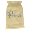 Mirage Pet Products Prince Rhinestone Knit Pet Sweater LG Cream