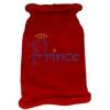 Mirage Pet Products Prince Rhinestone Knit Pet Sweater LG Red