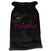 Mirage Pet Products Princess Rhinestone Knit Pet Sweater MD Black