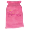 Mirage Pet Products Princess Rhinestone Knit Pet Sweater LG Pink