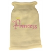 Mirage Pet Products Princess Rhinestone Knit Pet Sweater SM Cream