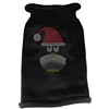 Mirage Pet Products Santa Penguin Rhinestone Knit Pet Sweater LG Black