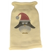 Mirage Pet Products Santa Penguin Rhinestone Knit Pet Sweater SM Cream