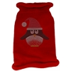 Mirage Pet Products Santa Penguin Rhinestone Knit Pet Sweater LG Red