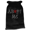 Mirage Pet Products Adopt Me Rhinestone Knit Pet Sweater MD Black