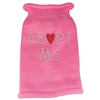 Mirage Pet Products Adopt Me Rhinestone Knit Pet Sweater LG Pink