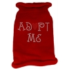Mirage Pet Products Adopt Me Rhinestone Knit Pet Sweater LG Red