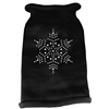 Mirage Pet Products Snowflake Rhinestone Knit Pet Sweater MD Black