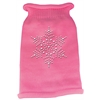Mirage Pet Products Snowflake Rhinestone Knit Pet Sweater MD Pink