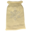 Mirage Pet Products Snowflake Rhinestone Knit Pet Sweater LG Cream