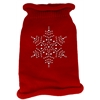 Mirage Pet Products Snowflake Rhinestone Knit Pet Sweater MD Red