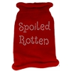 Mirage Pet Products Spoiled Rotten Rhinestone Knit Pet Sweater MD Red