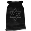 Mirage Pet Products Star of David Rhinestone Knit Pet Sweater LG Black
