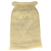 Mirage Pet Products Star of David Rhinestone Knit Pet Sweater MD Cream