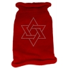 Mirage Pet Products Star of David Rhinestone Knit Pet Sweater SM Red