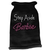 Mirage Pet Products Step Aside Barbie Rhinestone Knit Pet Sweater SM Black