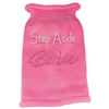 Mirage Pet Products Step Aside Barbie Rhinestone Knit Pet Sweater MD Pink