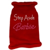 Mirage Pet Products Step Aside Barbie Rhinestone Knit Pet Sweater MD Red