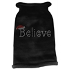Mirage Pet Products Believe Rhinestone Knit Pet Sweater LG Black