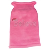 Mirage Pet Products Believe Rhinestone Knit Pet Sweater SM Pink