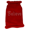 Mirage Pet Products Believe Rhinestone Knit Pet Sweater MD Red
