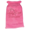 Mirage Pet Products Candy Cane Princess Knit Pet Sweater LG Pink